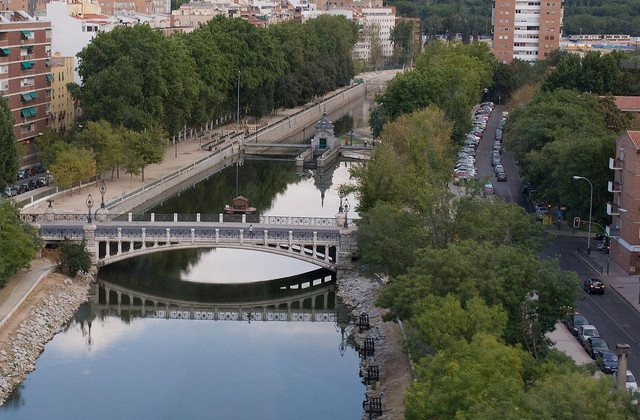 Manzanares River Madrid from Teleferico by spencer77